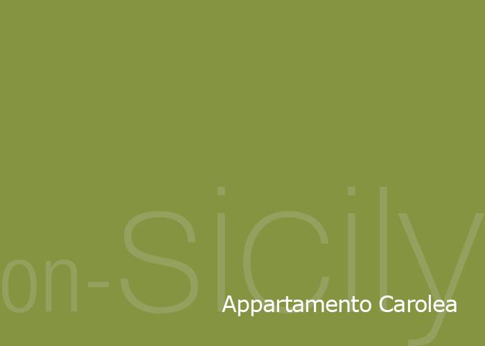 on-Sicily - Appartamento Carolea in the Borgo delle olive