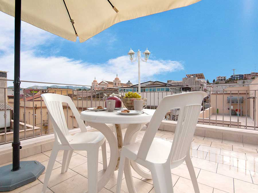 On the terrace of Appartamento Tirrazza